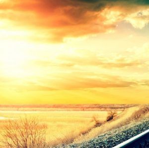 railroad-looking-amazing-in-sunset-colorful-evening-photography-desktop-image-HD